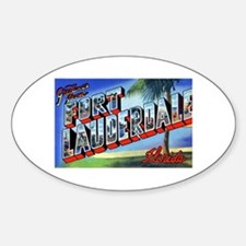 Fort Lauderdale Florida Greetings Oval Decal