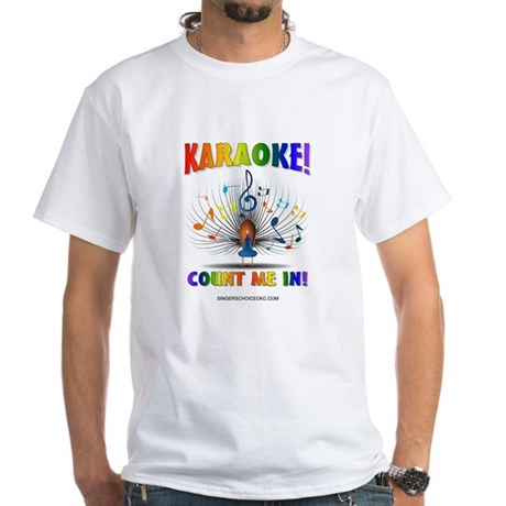 KARAOKE! COUNT ME IN! White T-Shirt