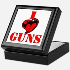 I (Heart) Love Guns Keepsake Box