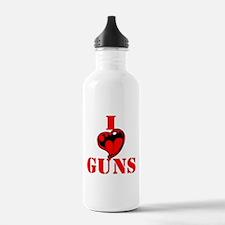I (Heart) Love Guns Water Bottle
