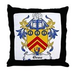 Orme Coat of Arms Throw Pillow