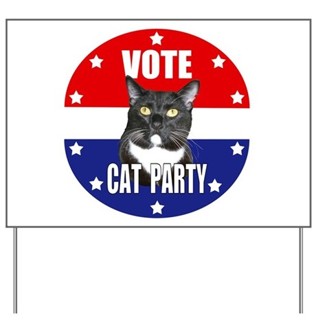 Vote: Cat Party! Yard Sign