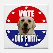 Vote: Dog Party! Tile Coaster
