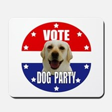Vote: Dog Party! Mousepad