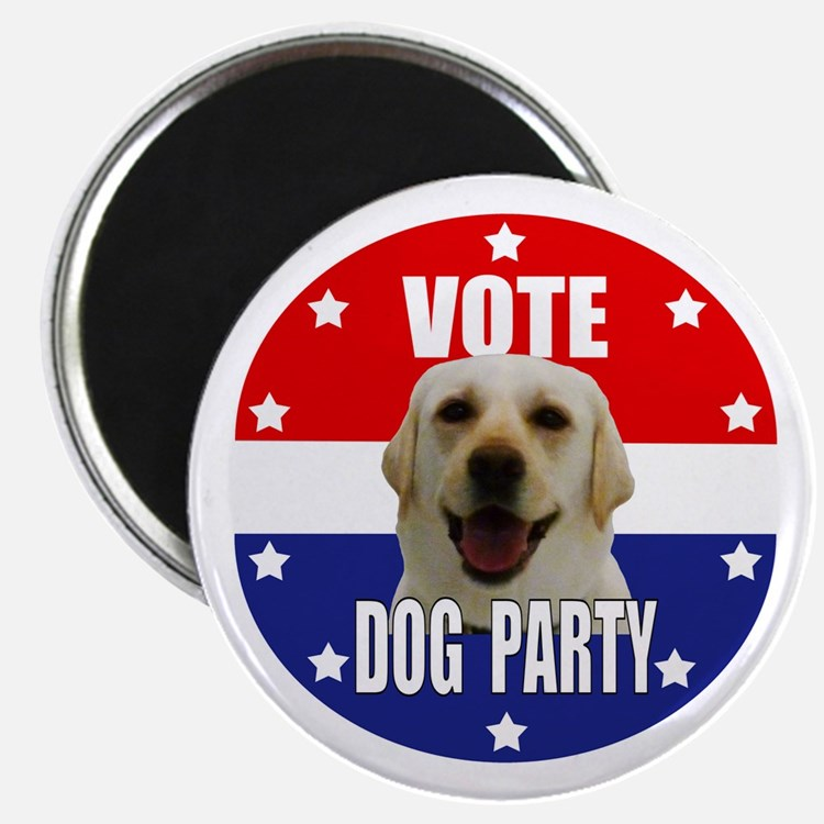 """Vote: Dog Party! 2.25"""" Magnet (100 pack)"""