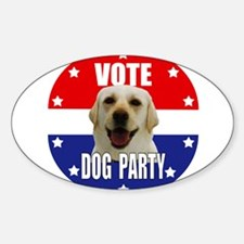 Vote: Dog Party! Decal