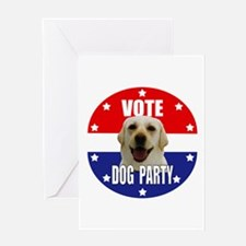 Vote: Dog Party! Greeting Card
