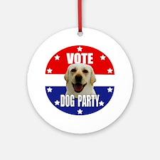 Vote: Dog Party! Ornament (Round)