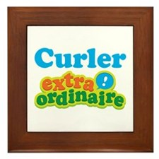 Curler Extraordinaire Framed Tile