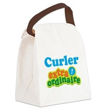 Curler Extraordinaire Canvas Lunch Bag