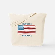 [Your Text] 'Handmade' US Flag Tote Bag