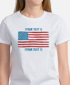 [Your Text] 'Handmade' US Flag Tee