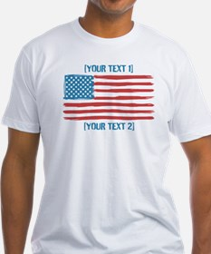 [Your Text] 'Handmade' US Flag Shirt