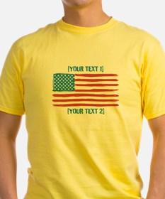 [Your Text] 'Handmade' US Flag T