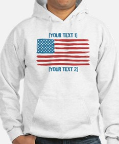 [Your Text] 'Handmade' US Flag Jumper Hoody