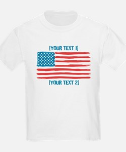 [Your Text] 'Handmade' US Flag T-Shirt