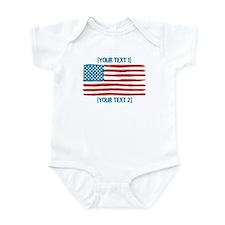 [Your Text] 'Handmade' US Flag Infant Bodysuit