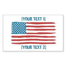 [Your Text] 'Handmade' US Flag Decal