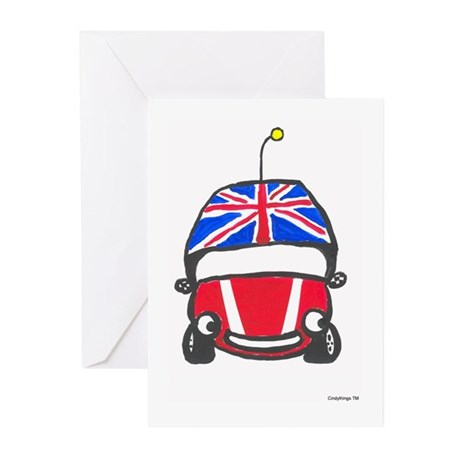 Little Red Car Greeting Cards (Pk of 10)