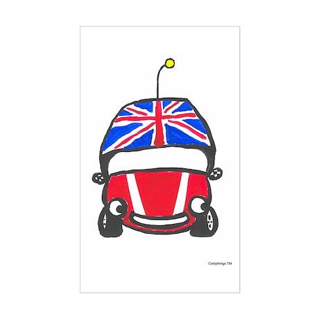 Little Red Car Rectangle Sticker
