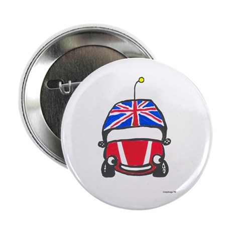 """Little Red Car 2.25"""" Button (10 pack)"""