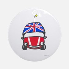 Little Red Car Ornament (Round)