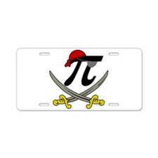Pi - Rate Aluminum License Plate