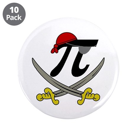 """Pi - Rate 3.5"""" Button (10 pack)"""