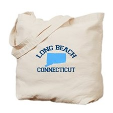 Long Beach CT - Map Design. Tote Bag