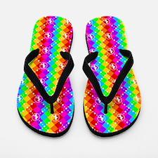 Rainbow Unicorn 01 Flip Flops