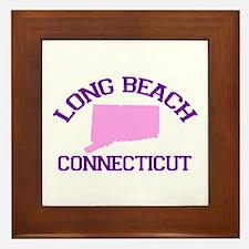 Long Beach CT - Map Design. Framed Tile
