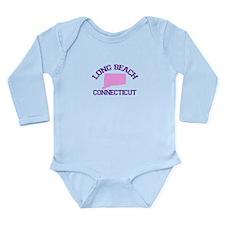 Long Beach CT - Map Design. Long Sleeve Infant Bod
