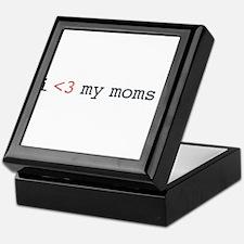 I heart my moms! Keepsake Box