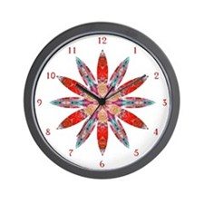 Attraction Big Flower C Wall Clock
