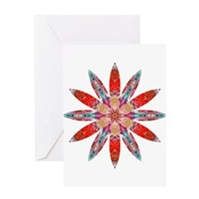 Attraction Big Flower Greeting Card