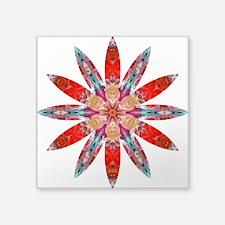 """Attraction Big Flower Square Sticker 3"""" x 3"""""""
