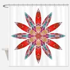 Attraction Big Flower Shower Curtain
