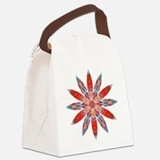 Attraction Big Flower Canvas Lunch Bag