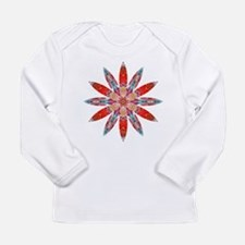 Attraction Big Flower Long Sleeve Infant T-Shirt