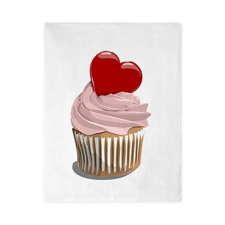Valentines day cupcake Twin Duvet