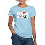 I Love USSR Women's Pink T-Shirt