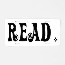 Read (Ver 3) Aluminum License Plate