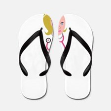 Nurse with Stethoscope Flip Flops