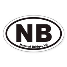 Natural Bridge NB Euro Oval Decal