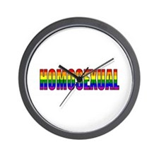Funny Gay sex Wall Clock