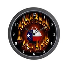 """TEXAS Barbeque 'Barbeque A Way Of Life"""" Wall Clock"""
