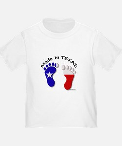 "'Made In TEXAS"" Baby Feet T"