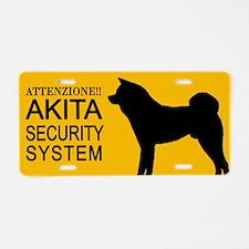 Targa in alluminio Akita Security System