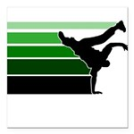 break gradient green blk Square Car Magnet 3
