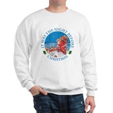 Santa Up On The Rooftop Sweatshirt